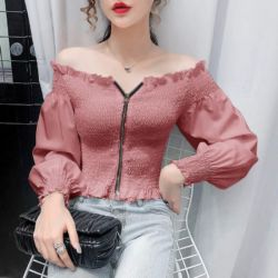 Model Baju Sabrina Cantik Terbaru Zaman Sekarang