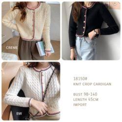 Model Cardigan Cantik Knit Crop Import Terbaru