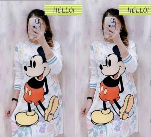 Model Tunik Mickey Mouse Bahan Scuba Terbaru