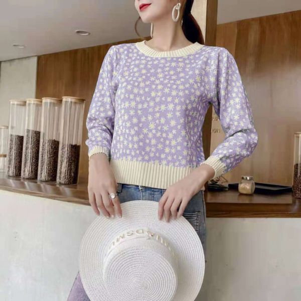 Trilium Knit Top Baju Lengan Panjang Kekinian