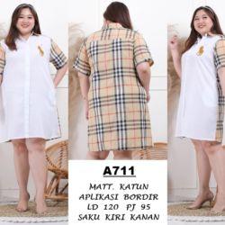 Baju Dress Pendek Jumbo Big Size XXL Modern