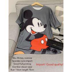 Baju Kaos Oblong Mickey Mouse Oversize Tee Modern