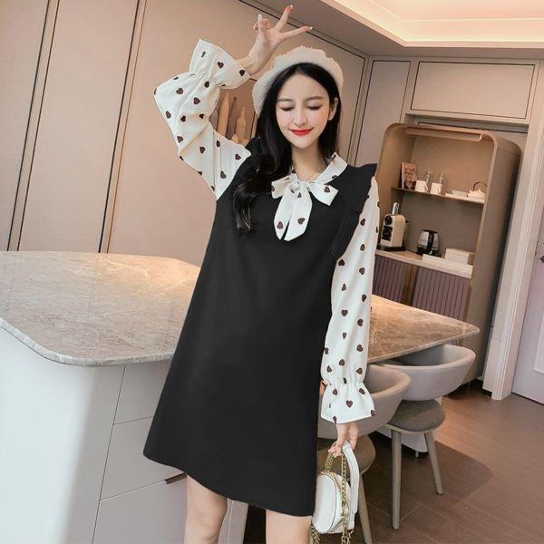 Baju Korean Knit Dress Lengan Panjang Modern