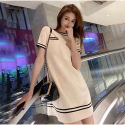 Baju Mini Dress Cantik Bahan Knit Rajut Import