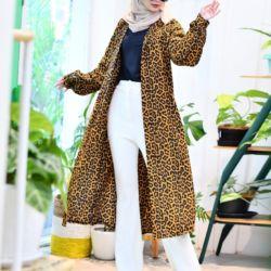 Model Baju Tunik Masa Kini Motif Leopard Terbaru