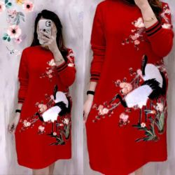 Model Baju Tunik Printing Motif Bunga Terbaru