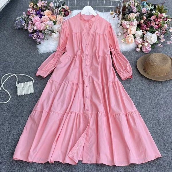 Model Gamis Long Dress Full Kancing Kekinian