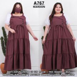 Model Long Dress Overall Jumbo Big Size Kekinian