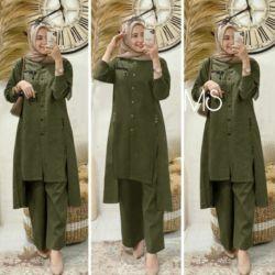Model Setelan Tunik Celana Panjang Wanita Berhijab