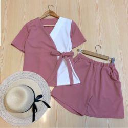 Setelan Baju dan Celana Pendek Hotpants Modis