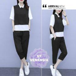 Setelan Baju dan Celana Remaja Kombinasi Warna