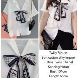Baju Atasan Wanita Lengan Pendek Free Bros Chanel