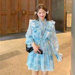 Baju Dress Cantik Motif Tie Dye Model Terbaru