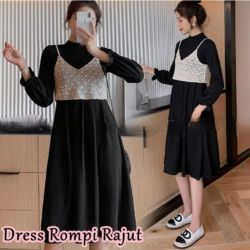 Baju Dress Rompi Rajut Cantik Model Terbaru