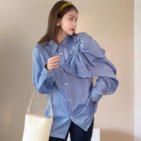Baju Kemeja Wanita Modern Import Lengan Panjang