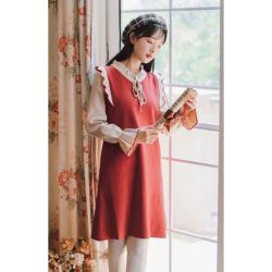 Baju Knit Dress Korea Lengan Panjang Modern