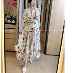 Baju Long Dress Gamis Modern Motif Kekinian