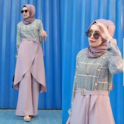Baju Setelan Celana Kulot Muslim Modern
