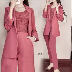 Baju Setelan Inner Outer dan Celana Panjang 3in1