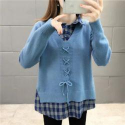 Model Baju Atasan Knit Top Lengan Panjang Terbaru