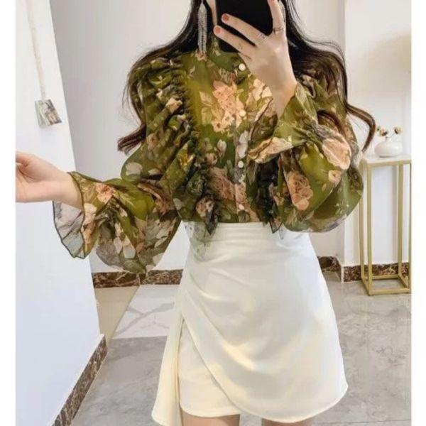 Model Baju Atasan Wanita Ruffle Motif Terbaru